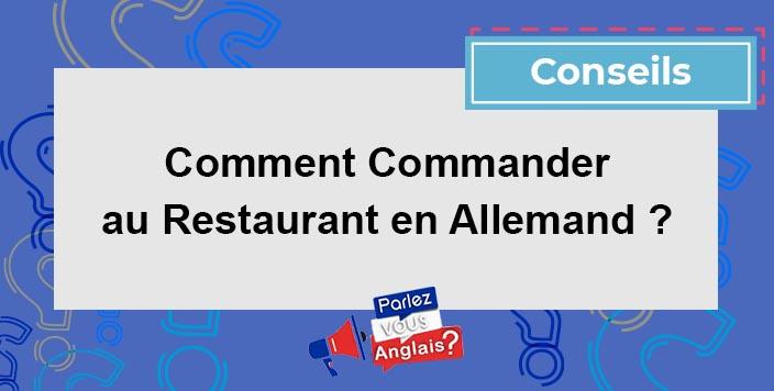 apprendre commander restaurant allemand