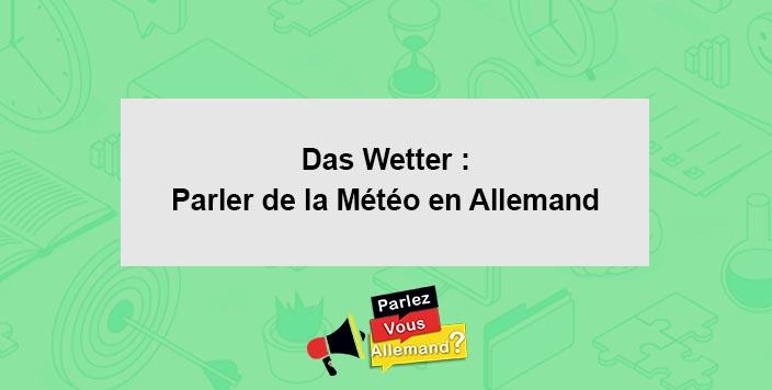 apprendre la meteo allemand