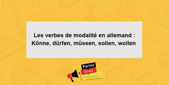 cours verbes modalite allemand