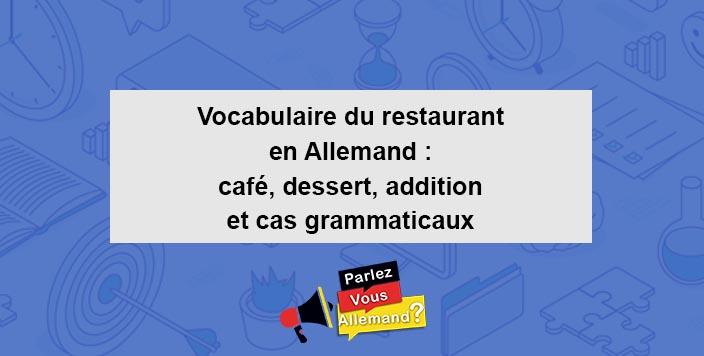 vocabulaire restaurant en allemand 2