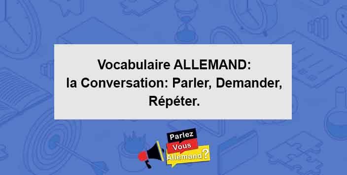 apprendre vocabulaire conversation allemand