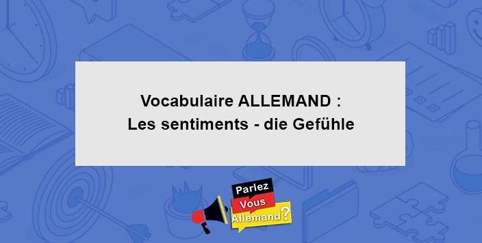 apprendre vocabulaire sentiment allemand