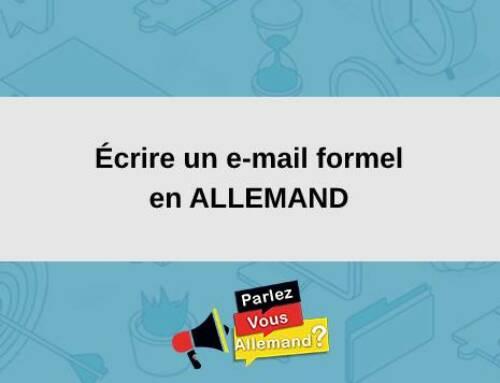 Écrire un e-mail formel en ALLEMAND