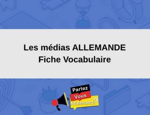 Les médias en ALLEMAND : Fiche Vocabulaire