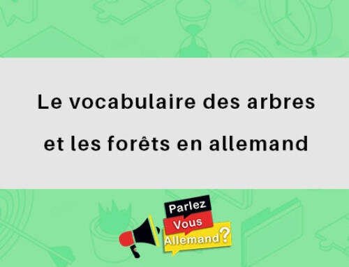Le vocabulaire des arbres et les forêts en allemand