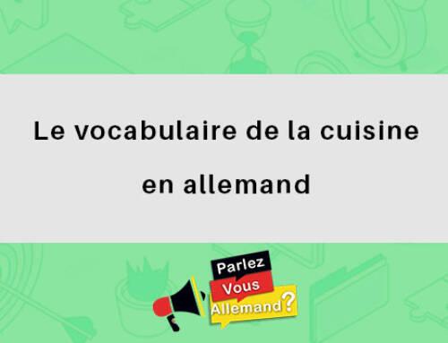 Le vocabulaire de la cuisine en allemand
