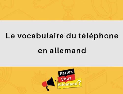 Le vocabulaire du téléphone en allemand