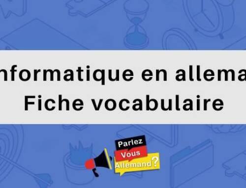 L'informatique en allemand : Fiche vocabulaire