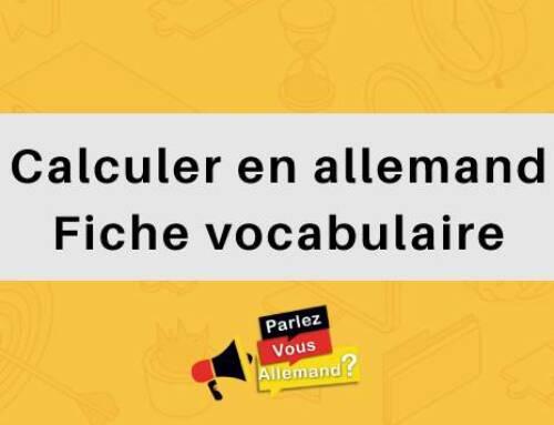 Calculer en allemand : Fiche vocabulaire